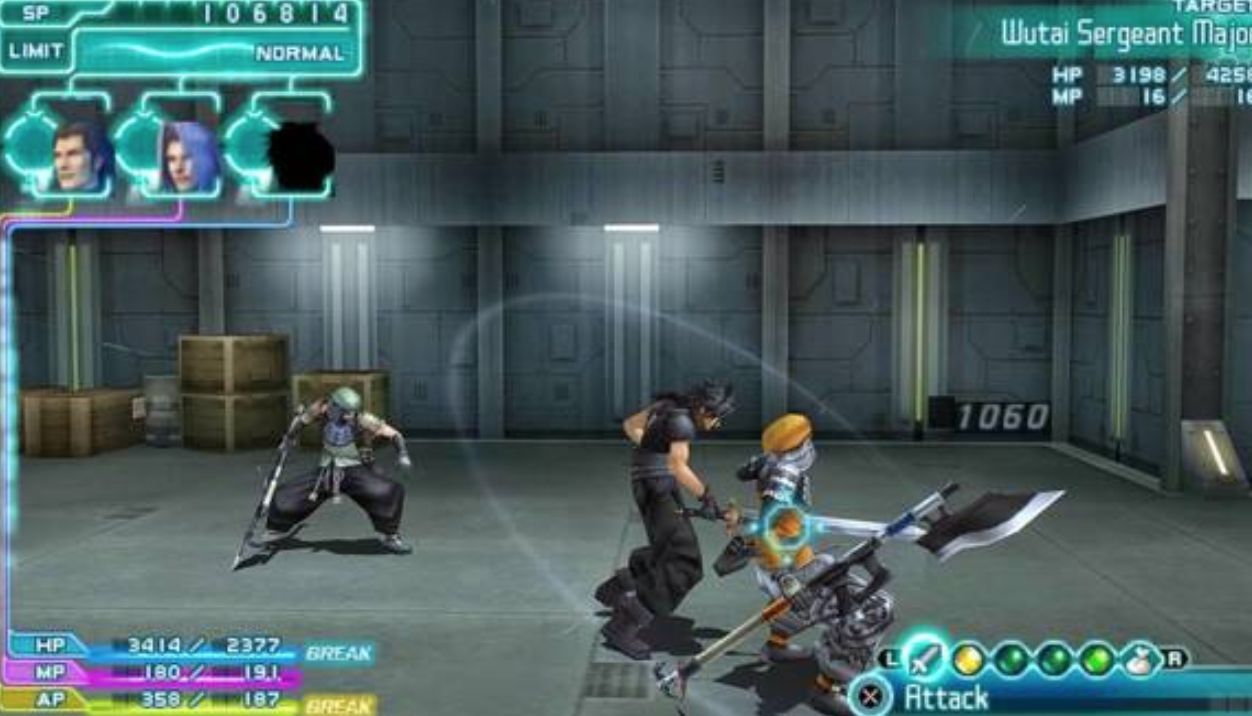 game psp terbaik crisis core final fantasy 7