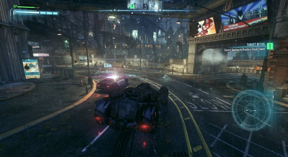 review batman arkham knight batmobile