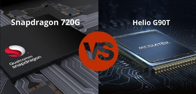 chipset mediatek helio g90t vs snapdragon 720g